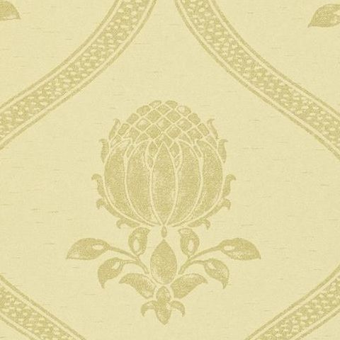 Morris & Co Wallpaper-Granada 210434 Cream/Silver