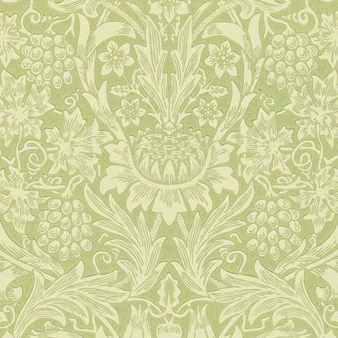 Morris & Co Wallpaper-Sunflower 210477 Pale Green