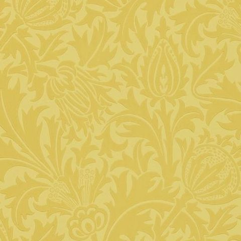 Morris & Co Wallpaper-Thistle 210484 Gold