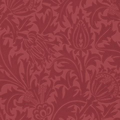 Morris & Co Wallpaper-Thistle 210486 Red