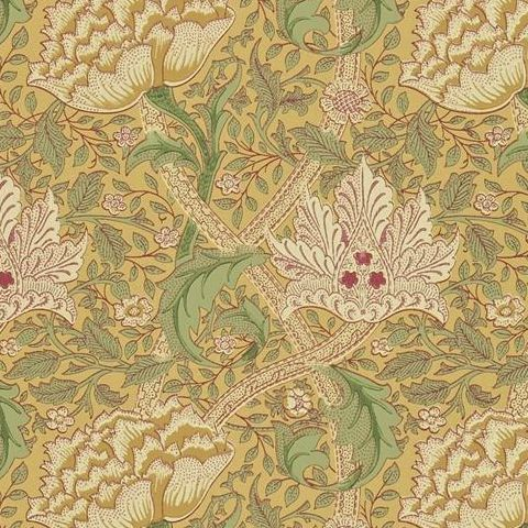 Morris & Co Wallpaper-Windrush 210494 Gold and Thyme