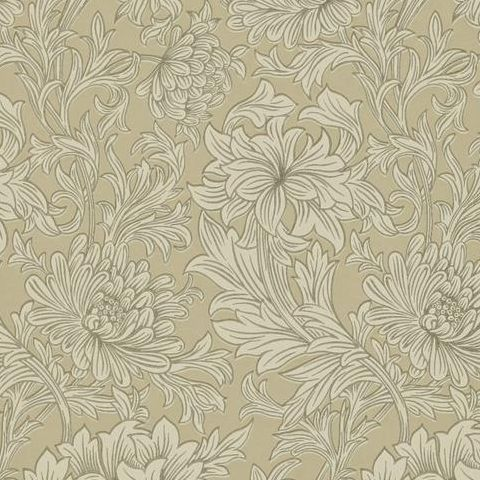 Morris & Co Wallpaper-Chrsyanthemum DMOWCH103 Ivory/Gold