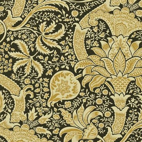Morris & Co Wallpaper-Indian DMOWIN101 Gold/Black