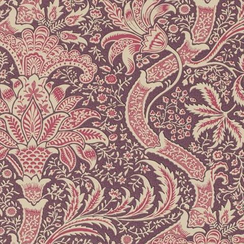 Morris & Co Wallpaper-Indian DMOWIN102 Wine/Heather