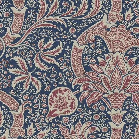 Morris & Co Wallpaper-Indian DMOWIN103 Indigo/Red