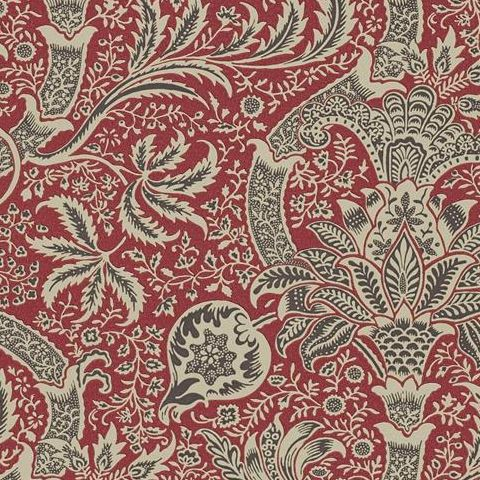 Morris & Co Wallpaper-Indian DMOWIN104 Red/Black