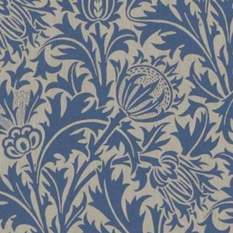 Morris & Co Wallpaper-Thistle DMOWTH102 Linen/Indigo