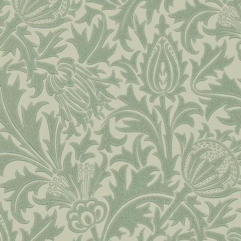 Morris & Co Wallpaper-Thistle DMOWTH105 Eggshell/Ivory