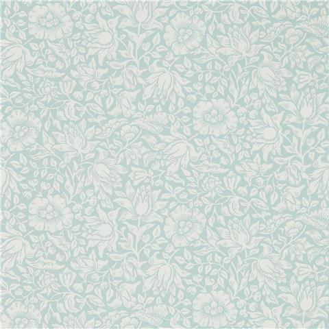Morris & Co Melsetter Wallpaper mallow 216679 chalk/duck egg