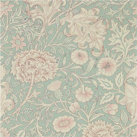 Morris & Co Melsetter Wallpaper Double Bough 216680 Teal/rose