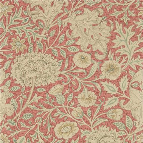 Morris & Co Melsetter Wallpaper Double Bough 216683 carmine red
