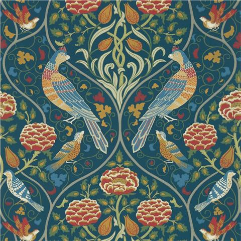 Morris & Co Melsetter Wallpaper Seasons by may 216686 indigo