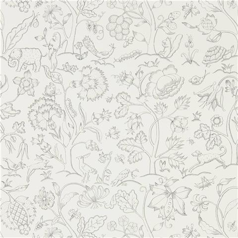 Morris & Co Melsetter Wallpaper middlemore 216693 chalk charcoal