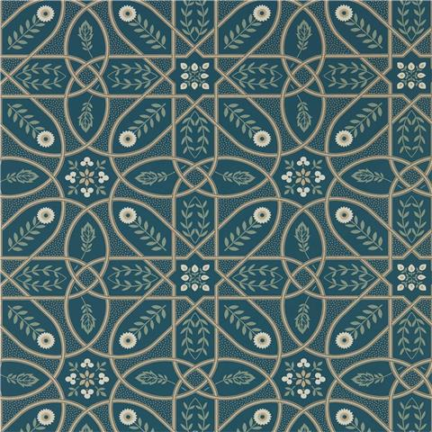 Morris & Co Melsetter Wallpaper brophy trellis 216699 deep teal