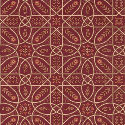 Morris & Co Melsetter Wallpaper brophy trellis 216701 russet gold