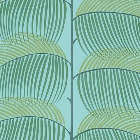 Sanderson Voyage of Discovery Wallpaper Manila Tropical Leaf 213373