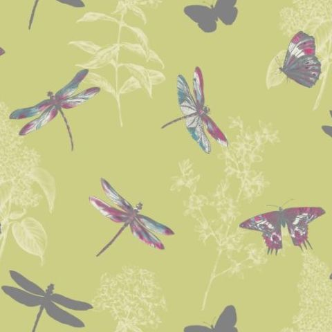 Arthouse Enchanted Wings Wallpaper Citrus