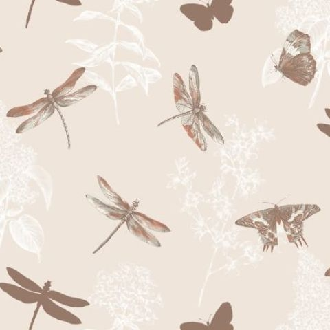 Arthouse Enchanted Wings Wallpaper Copper