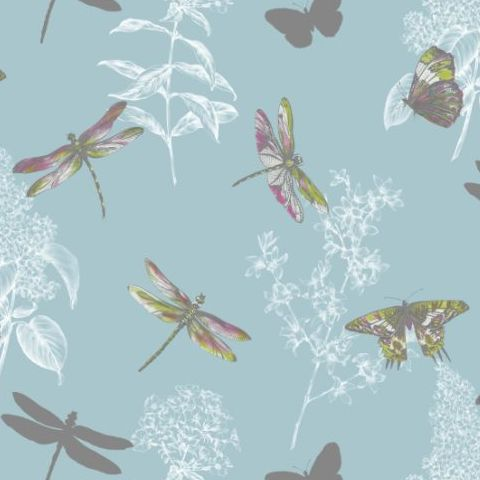 Arthouse Enchanted Wings Wallpaper Teal