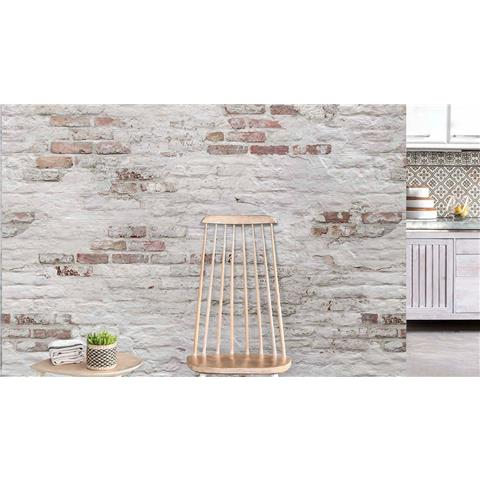 Grandeco One Roll Wall Mural Bricks EP6101 red