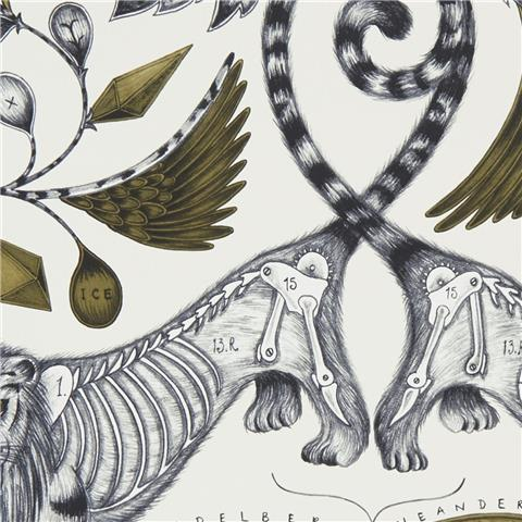 Clarke & Clarke Animalia Wallpaper by Emma J Shipley Extinct W0100-02
