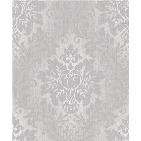 Royal House Luxury Wallpaper fabric Damask A10904 Silver