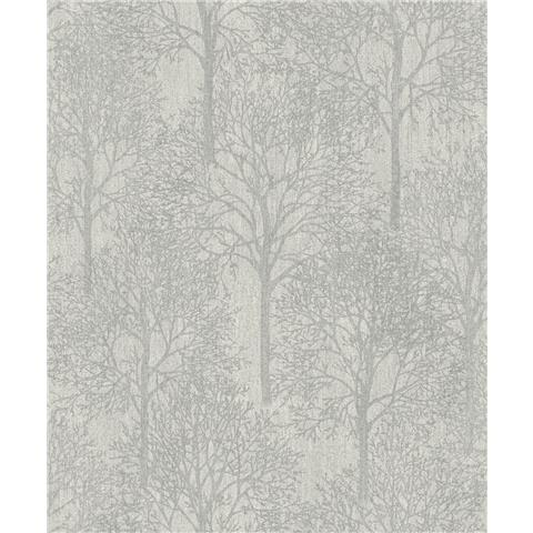 Royal House Luxury Wallpaper fabric tree Silver