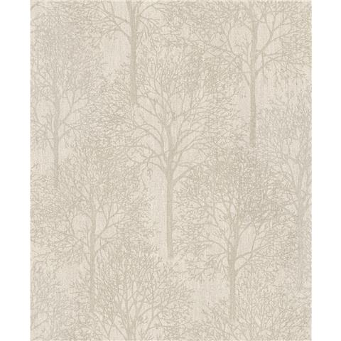 Royal House Luxury Wallpaper fabric tree taupe