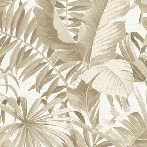 A Street Prints Solstice Wallpaper-Alfresco Palm 2744-24135 Taupe