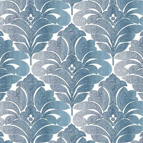 A Street Prints Solstice Wallpaper-Balangan Damask 2744-24145 Navy