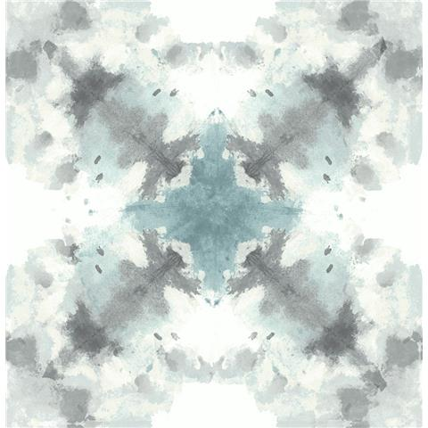 A STREET PRINTS moonlight WALLPAPER Mysterious ikat style 2763-24211 blue