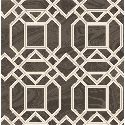 A STREET PRINTS moonlight WALLPAPER daphne marble trellis 2763-24221 brown