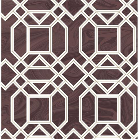 A STREET PRINTS moonlight WALLPAPER daphne marble trellis 2763-24223 plum
