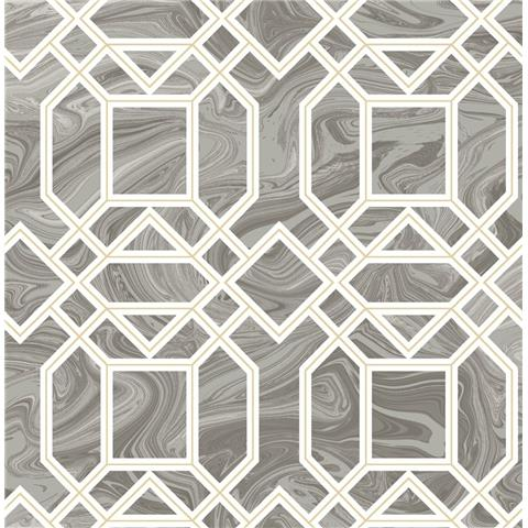 A STREET PRINTS moonlight WALLPAPER daphne marble trellis 2763-24245 grey