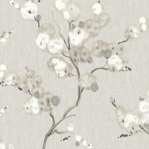 A Street Prints Mistral Wallpaper-Bliss Blossom FD24306 Taupe/Grey
