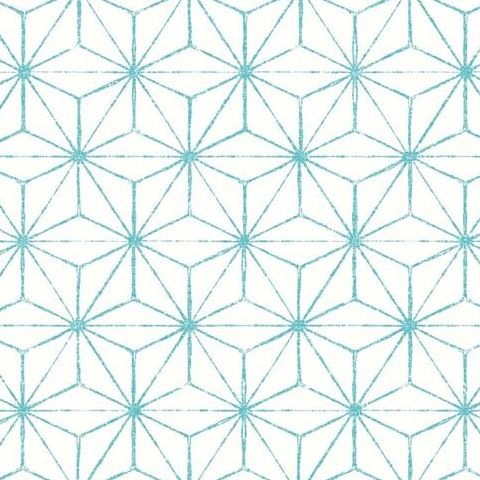 A Street Prints Mistral Wallpaper-Orion Geometric FD24311 Turqoise