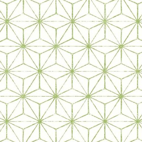 A Street Prints Mistral Wallpaper-Orion Geometric FD24312 Green