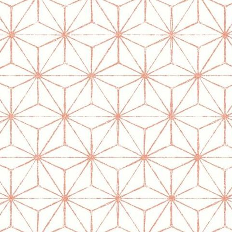 A Street Prints Mistral Wallpaper-Orion Geometric FD24313 Coral