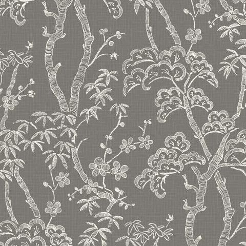 A Street Prints Mistral Wallpaper-Bonsai FD24351 Grey