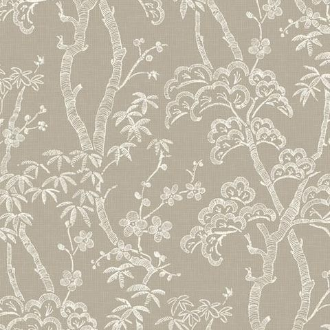 A Street Prints Mistral Wallpaper-Bonsai FD24353 Tan