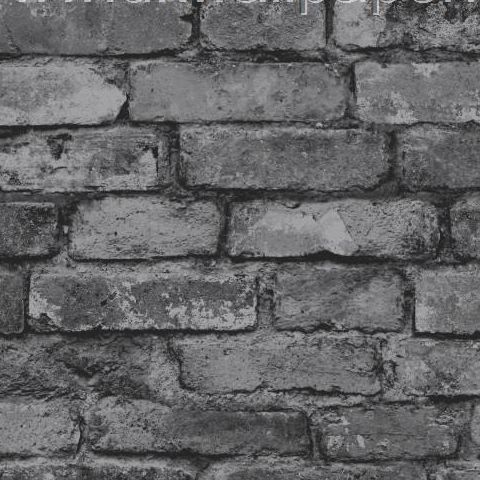 Rustic Brick Wallpaper Charcoal/Grey