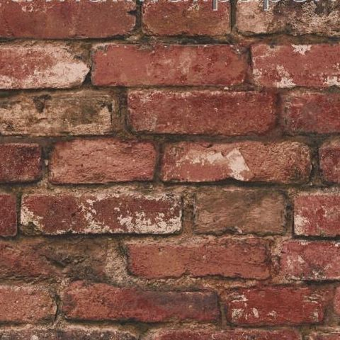 Rustic Brick Wallpaper Terracotta