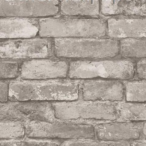 Rustic Brick Wallpaper Silver