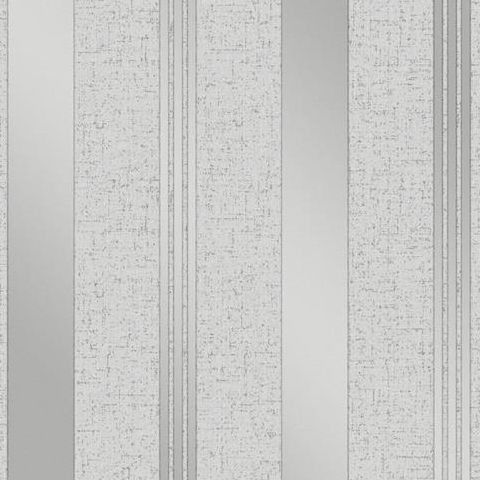 Fine Decor Blown Vinyl Wallpaper Stripe FD41967 Silver
