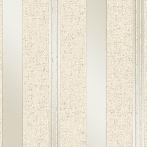 Fine Decor Blown Vinyl Wallpaper Stripe FD41972 Cream/Gold