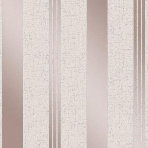 Fine Decor Blown Vinyl Wallpaper Stripe  FD42205 Rose Gold