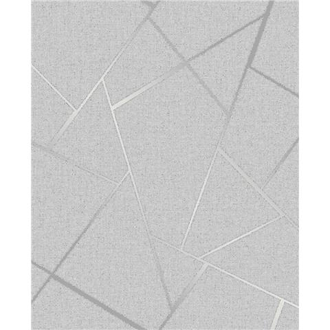 Fine Decor Quartz Fractal geometric wallpaper FD42280 Silver