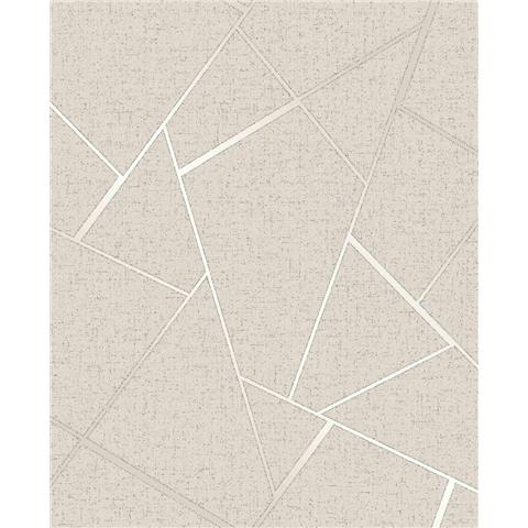 Fine Decor Quartz Fractal geometric wallpaper FD42281 cream/gold