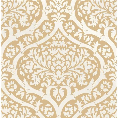 Fine Decor sandringham damask wallpaper Mustard 42527