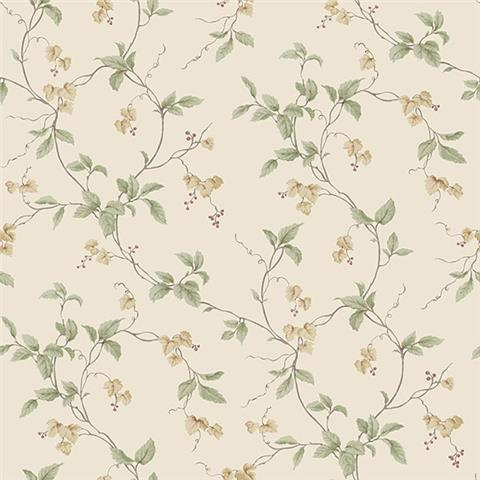 Kitchen Recipes Vinyl Wallpaper Ivy Floral G12266